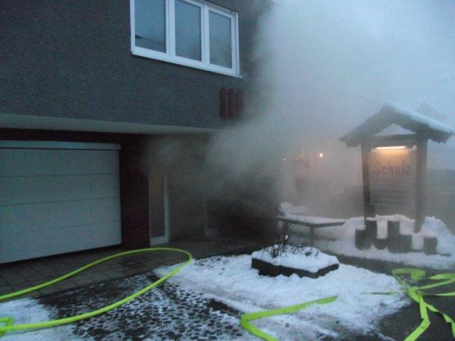 Brandeinsatz vom 18.01.2013     (C) Feuerwehr Muehlhausen (2013)