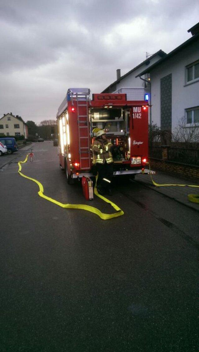 Brandeinsatz vom 22.02.2014     (C) Feuerwehr Muehlhausen (2014)