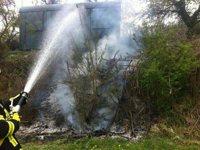 Brandeinsatz vom 14.04.2012  |  (C) Feuerwehr Muehlhausen (2012)